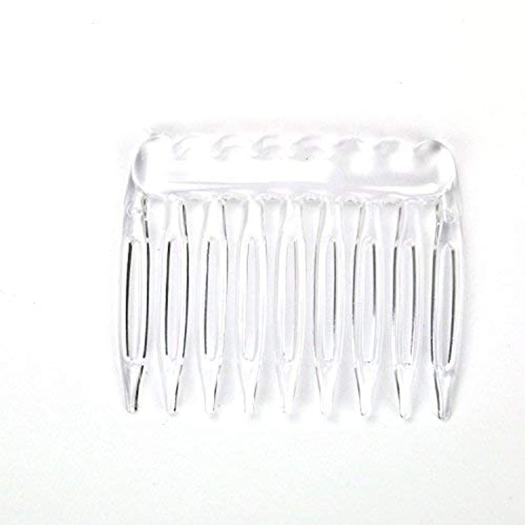 TOPMO Pack of 30 Clear Plain Plastic Smooth Hair Clips Combs Wire Twist Bridal Wedding Veil Combs,9 Teeth Designed...