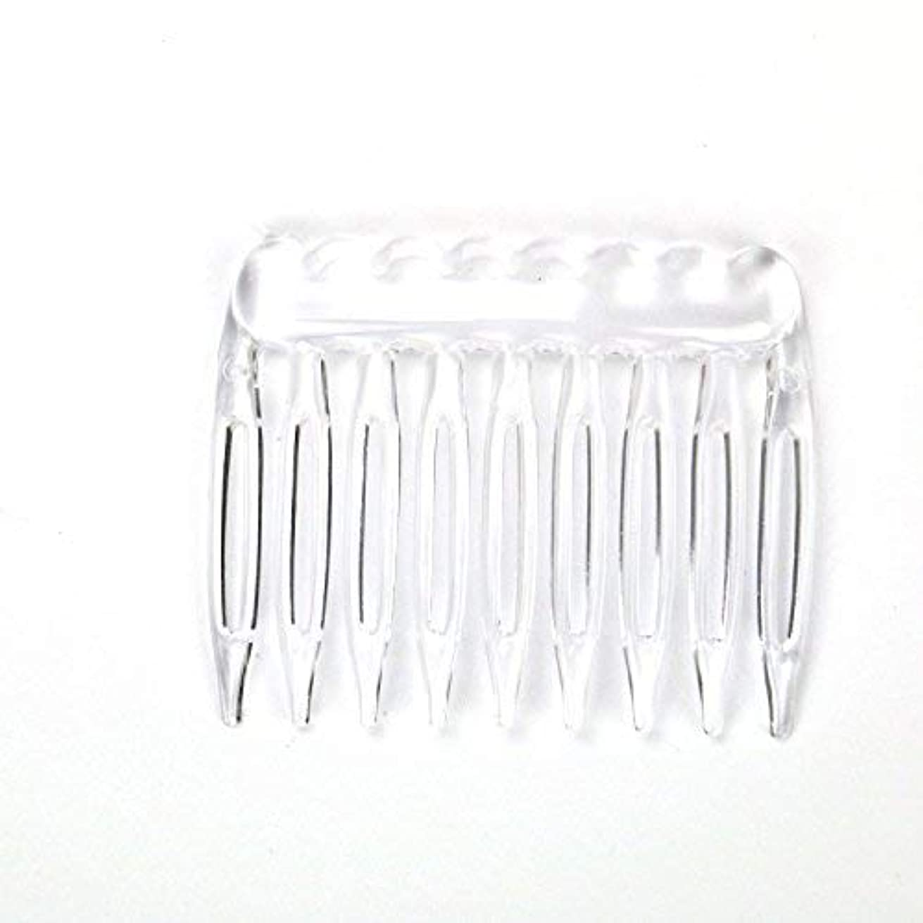 ブリリアント権利を与える崩壊TOPMO Pack of 30 Clear Plain Plastic Smooth Hair Clips Combs Wire Twist Bridal Wedding Veil Combs,9 Teeth Designed...