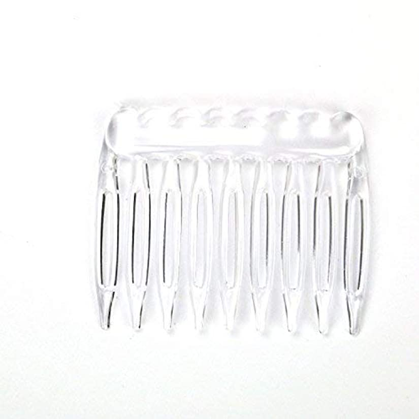 理由曖昧な骨の折れるTOPMO Pack of 30 Clear Plain Plastic Smooth Hair Clips Combs Wire Twist Bridal Wedding Veil Combs,9 Teeth Designed...