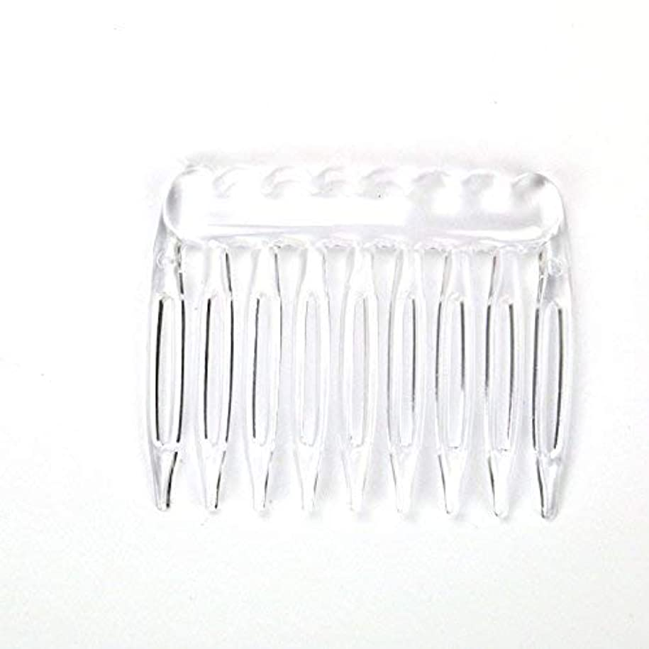 除外する偉業ベリTOPMO Pack of 30 Clear Plain Plastic Smooth Hair Clips Combs Wire Twist Bridal Wedding Veil Combs,9 Teeth Designed...