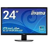 iiyama モニター ディスプレイ E2483HS-B1 (24インチ/フルHD/TN/HDMI,D-sub,DVI-D/3年保証)