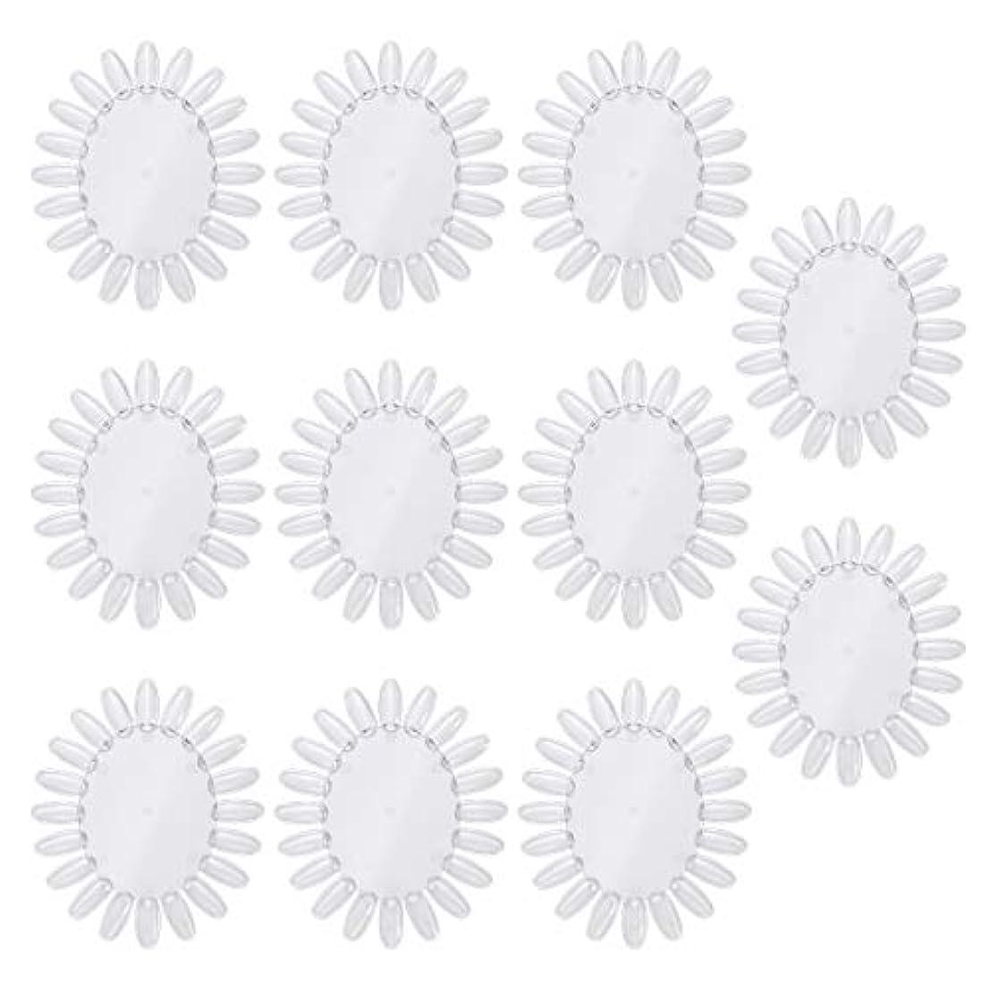 寄生虫ピッチャー釈義Frcolor 10個アクリルネイルアートプラクティスホイールポリッシュカラーディスプレイチャートネイルカラーパレット(透明)
