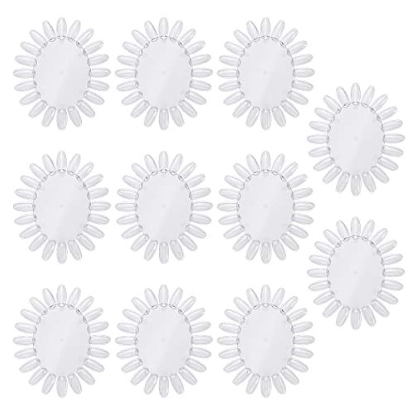 印刷する急勾配のシンプトンFrcolor 10個アクリルネイルアートプラクティスホイールポリッシュカラーディスプレイチャートネイルカラーパレット(透明)