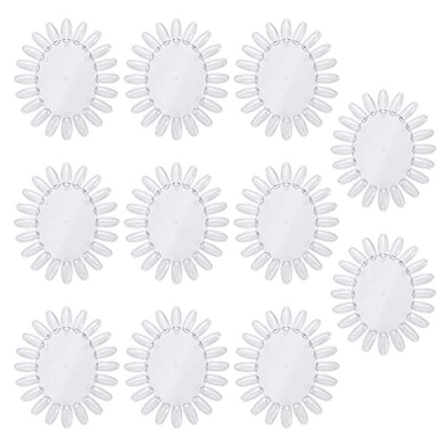 滝拒否氷Frcolor 10個アクリルネイルアートプラクティスホイールポリッシュカラーディスプレイチャートネイルカラーパレット(透明)