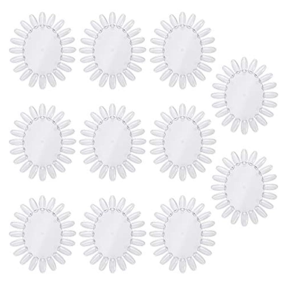 病的征服不条理Frcolor 10個アクリルネイルアートプラクティスホイールポリッシュカラーディスプレイチャートネイルカラーパレット(透明)