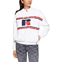 Russell Athletic Women's 1/4 Zip Eagle R Jacket, White