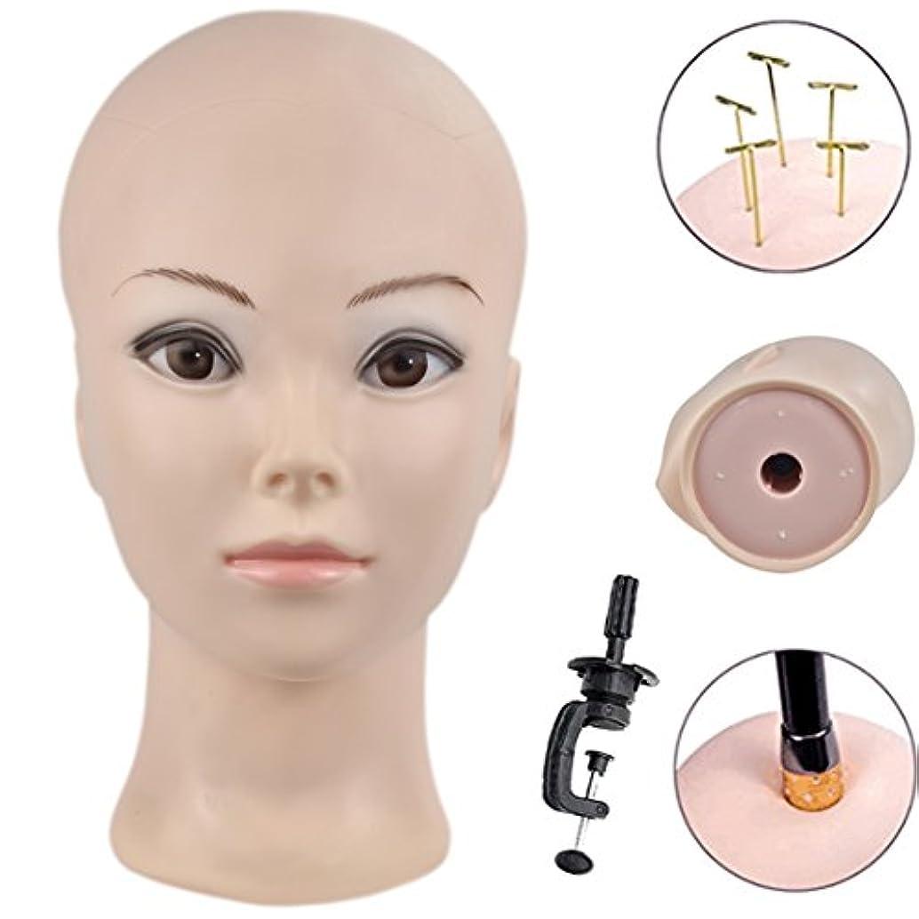 ストリップ卒業拍手する美容師の訓練のヘッド美容師のマニキュアヘッドのウィッグを作成し、無料のクランプで表示.