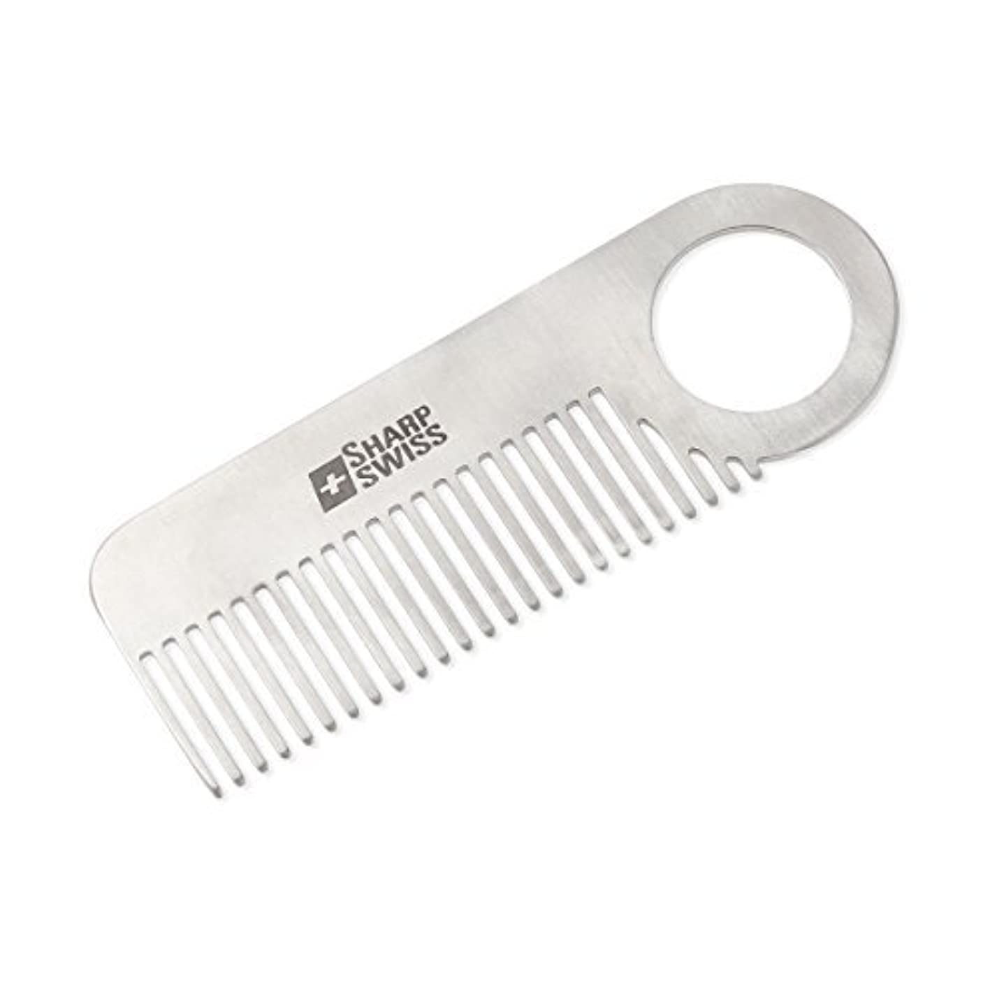 がっかりした普通に不完全なSHARPSWISS Stainless Steel Pocket Hair Combs Men Mini Beard Anti-static Comb 3.95inch [並行輸入品]