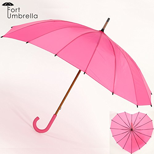 フォートアンブレラ Fort Umbrella ハート シェイプ 傘 レディース 英国 デザイン fortl001heartpinkpurele