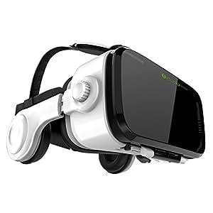 iDudu 3DVRゴーグル ヘッドセット実装 焦点/瞳孔距離調節可能 音量調整可能