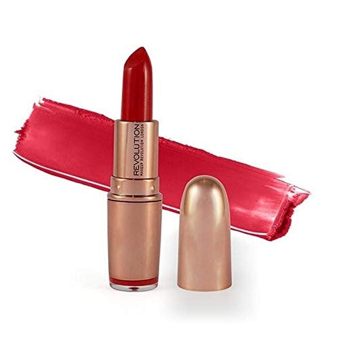 倒錯怒る衛星[Revolution ] 革命は、金口紅レッドカーペット3.2グラムをバラ - Revolution Rose Gold Lipstick Red Carpet 3.2G [並行輸入品]