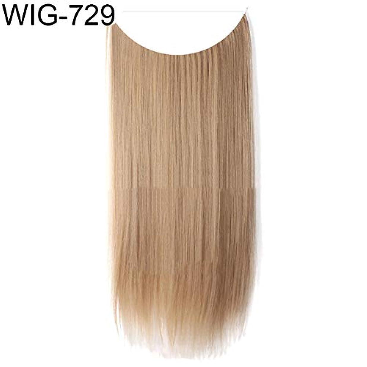 日焼け消化シンプルなslQinjiansav女性ウィッグ修理ツール女性高温繊維長いストレートカーリーウィッグヘアエクステンションヘアピース