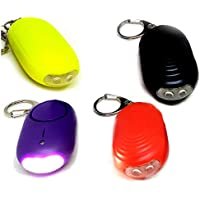 Keep Safe - Pack of 4 Personal Alarms for Men, Women, Kids & the Elderly - Twin Bright LED Lights, Genuine 130db Loud Screaming Siren - 3 Modes, Button & Keychain Pull Pin - Joggers, Students, Teens & Girls!