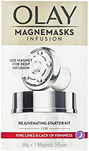 Olay Magnemasks Infusion Rejuvenating Starter Kit Rejuvenating Jar Mask 50g + 1 Magnetic Infuser