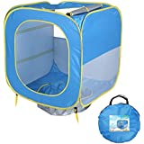 TENCMGキッズビーチテント - ポップアップポップアップ - 子供のための日陰のプールの紫外線保護サンシェルター - 子供のための屋内と屋外のゲーム - 青80X80X80CM