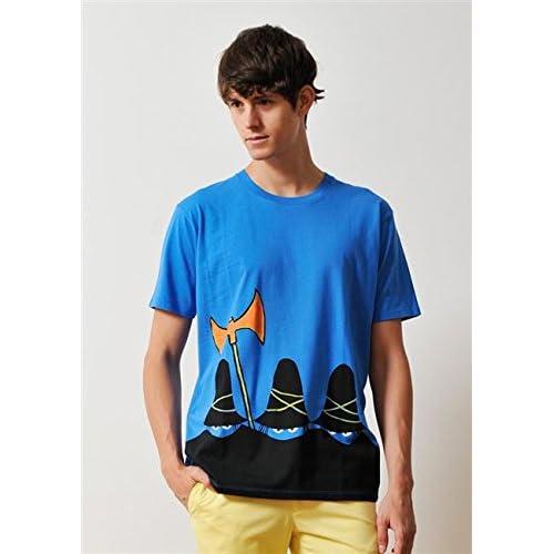( グラニフ ) graniph トミーウンゲラーTシャツ / ザスリーロバーズ ( ブルー ) SS
