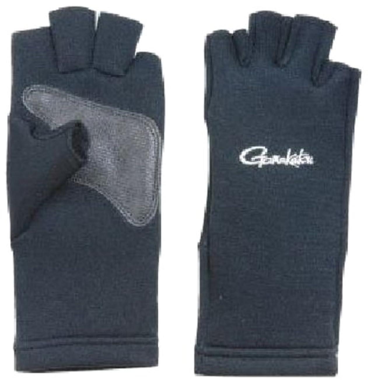 規範芽抑制がまかつ(Gamakatsu) フィッシンググローブ クロロプレーン 5本切 ブラック GM7185