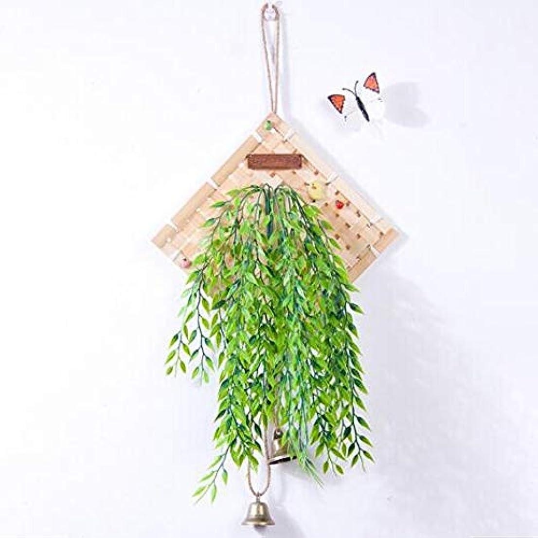 ピューヒゲクジラパークJielongtongxun 風チャイム、クリエイティブ?竹風チャイム、白、幅28.5cmくらい,絶妙な飾り (Color : Green)
