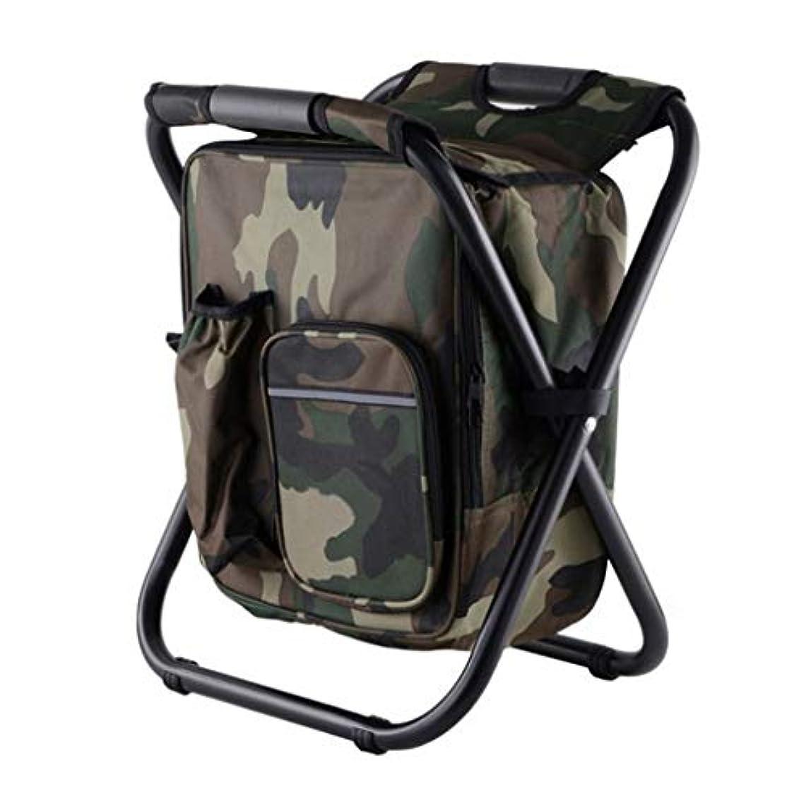 捨てる無意味地下室折りたたみ式バックパックキャンプチェアアームレス軽量アイスパック付き軽量で持ち運びに便利なコンパクトサイズ旅行/ピクニック/ハイキングに最適330ポンド