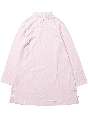 (エーシーディーシーラグ) ACDC RAG チャイナロンT 原宿系 ロング丈 チャイナ 個性的 (ピンク)