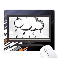 雨天はハンドペイントパターン ノンスリップラバーマウスパッドはコンピュータゲームのオフィス