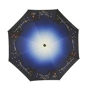 小川(Ogawa) ショートスライド晴雨兼用長傘 手開き 50cm 8本骨 ディズニー わんわん物語 ロマンスレストラン UV加工 遮熱遮光加工 はっ水 57231
