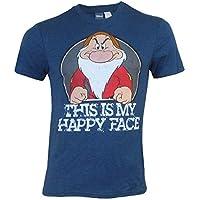 GiftsNBeyond Disney Grumpy Mens Happy Face T-Shirt