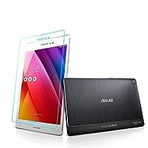 ASUS ZenPad S 8.0 Z580CA 強化ガラスフィルム 旭硝子製素材 9H ラウンドエッジ 0.33mm by MIWA CASES (ガラスフィルム1枚)