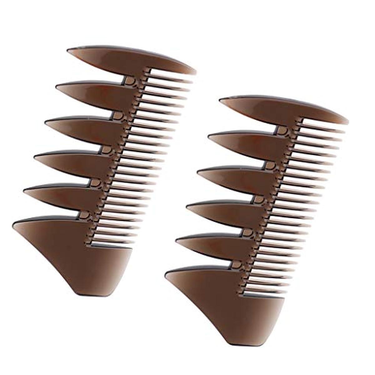 ウッズローンタバコヘアコンビ デュアルサイド メンズ 髪櫛 ヘアサロン ヘアスタイリング 散髪店/美容院専用櫛2個入