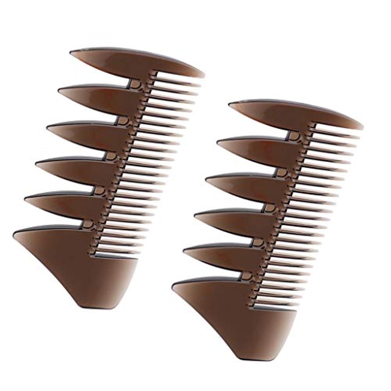 安全な終わり上がるヘアコンビ デュアルサイド メンズ 髪櫛 ヘアサロン ヘアスタイリング 散髪店/美容院専用櫛2個入