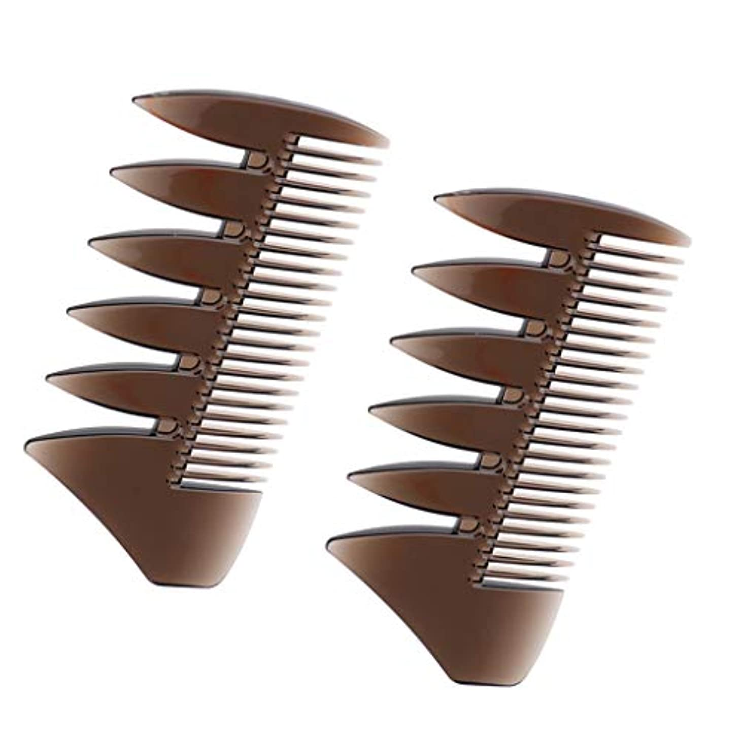 ハンディキャップウガンダ生産性ヘアコンビ デュアルサイド メンズ 髪櫛 ヘアサロン ヘアスタイリング 散髪店/美容院専用櫛2個入