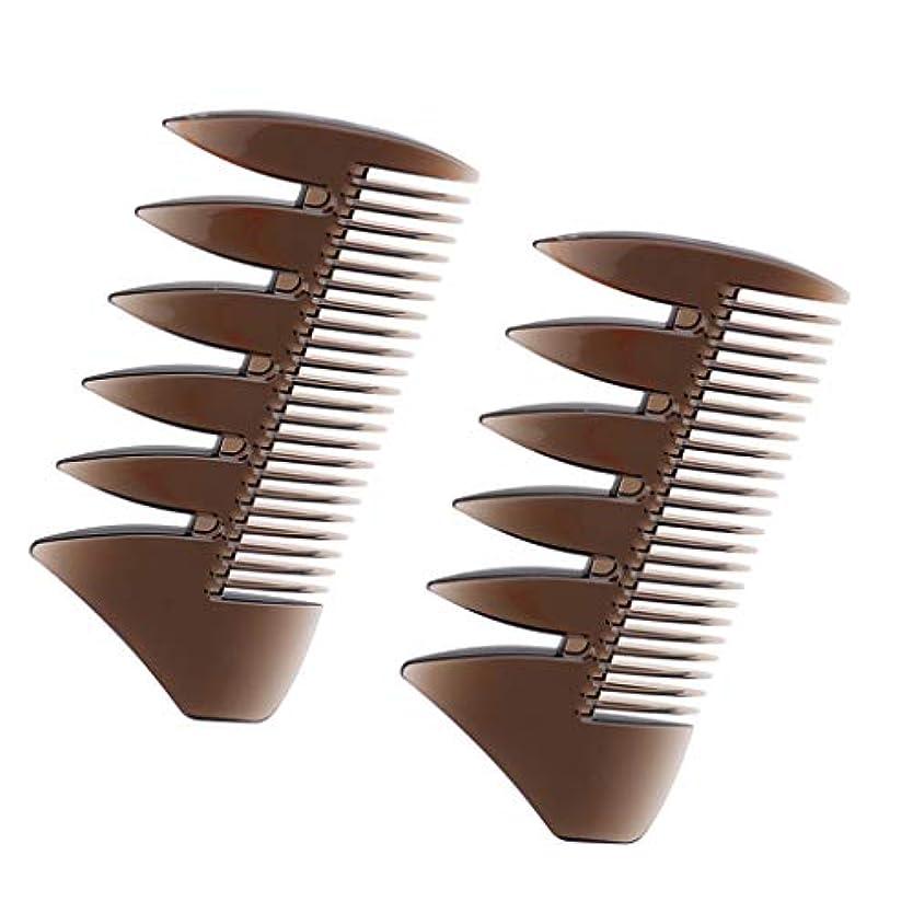五十帝国主義浸透するヘアコンビ デュアルサイド メンズ 髪櫛 ヘアサロン ヘアスタイリング 散髪店/美容院専用櫛2個入