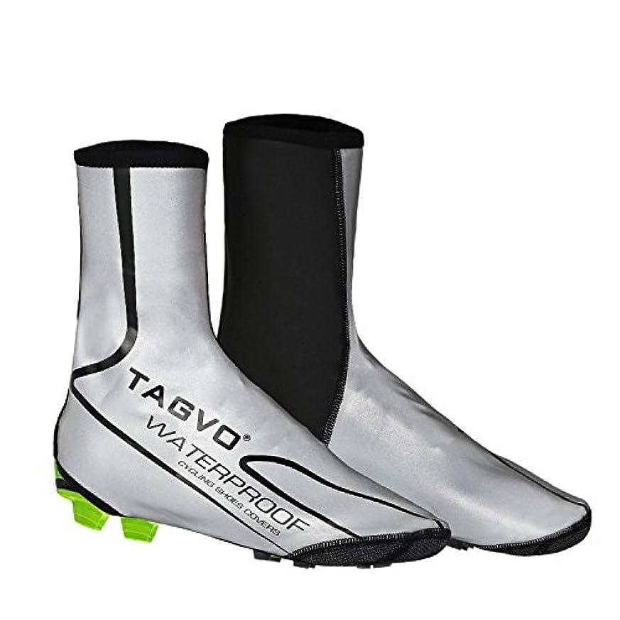 こねるウルル盲目tagvoバイク靴カバー、防水反射サイクリングシューズカバー、防風自転車Overshoes雨雪ブートプロテクターフィートGaiters