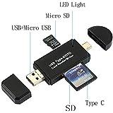 RedCloud カードリーダー SD/Micro SDカード両対応 OTG機能付き Type-C/Micro usb/USB接続 MacOS/Windows/Androidスマートフォン?タブレット用