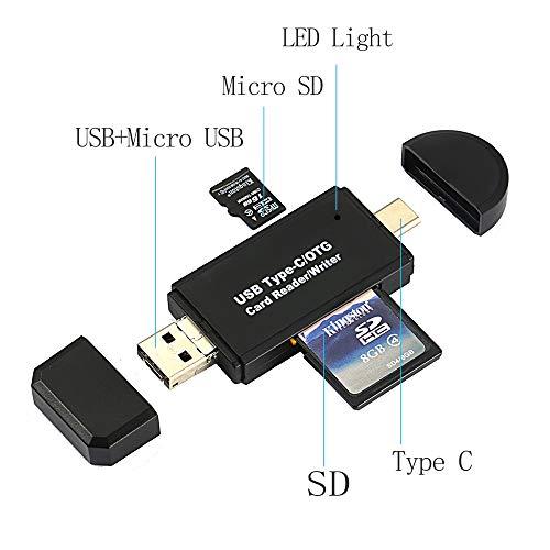 RedCloud カードリーダー SD/Micro SDカード両対応 OTG機能付き Type-C/Micro usb/USB接続 MacOS/Windows/