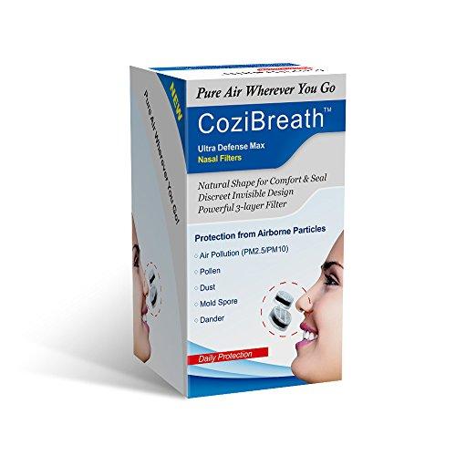 3in1抗アレルギー鼻用フィルターの目に見えないマスクは、花粉、ほこり、ふけを減らす (4)