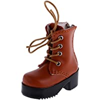 Perfk 1/4 BJD SDドール  人形用 おしゃれ 美しい 靴 PUレザー ブーツ シューズ ブラウン
