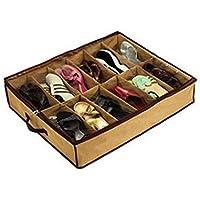 lfht 12ペア靴オーガナイザーホルダーIntakeベッド下クローゼットストレージファブリックバッグボックス