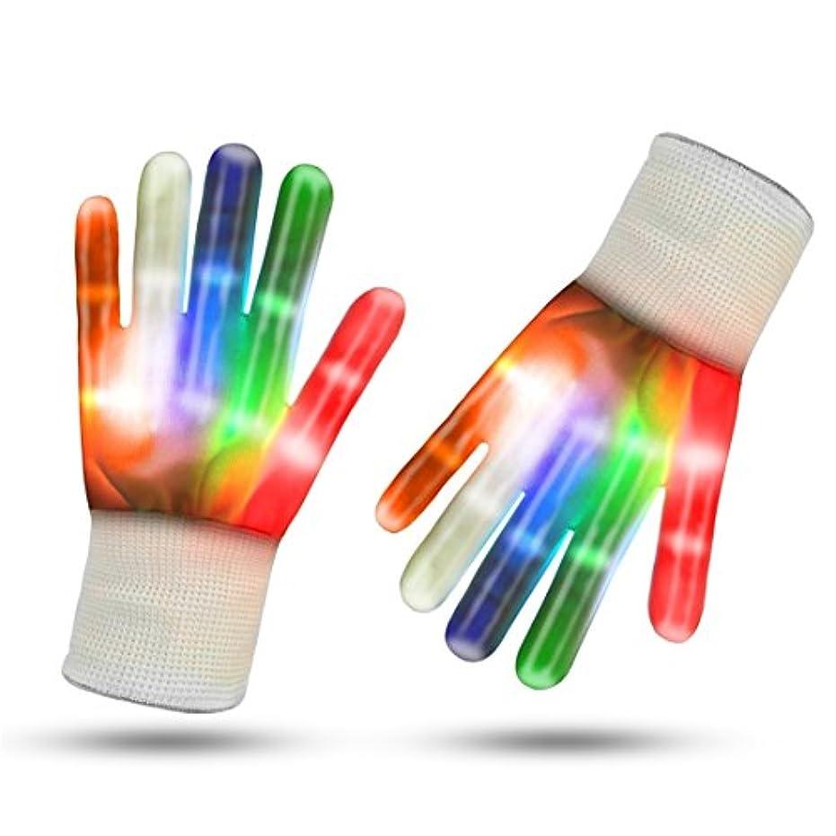 代表するサミットパスHeyuni. 光る手袋 LEDグローブ ハロウィン ステージ ダンス イベント コンサート 余興 夜釣り