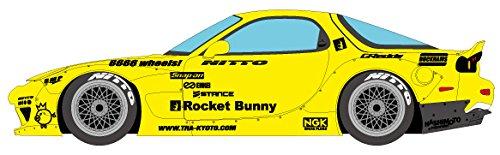 メイクアップ EIDOLON 1/43 Rocket Bunny RX-7 (FD3S) イエロー / 6666 wheels! (シルバー/ポリッシュリム) 完成品の詳細を見る