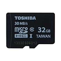 TOSHIBA microSDHCカード 32GB Class10 (最大転送速度30MB/s) (海外パッケージ) SD-C032GR7AR30