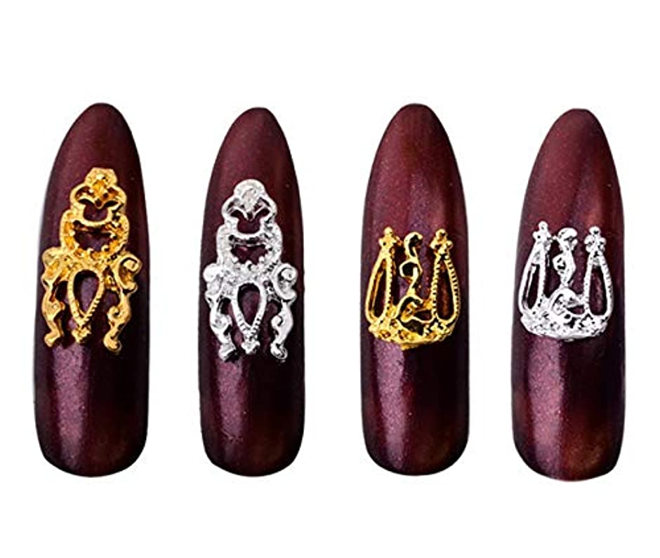 テロ輸血ピアノTianmey 爪のための3D DIYデザインアロイネイルアートデコレーションゴールドメタル