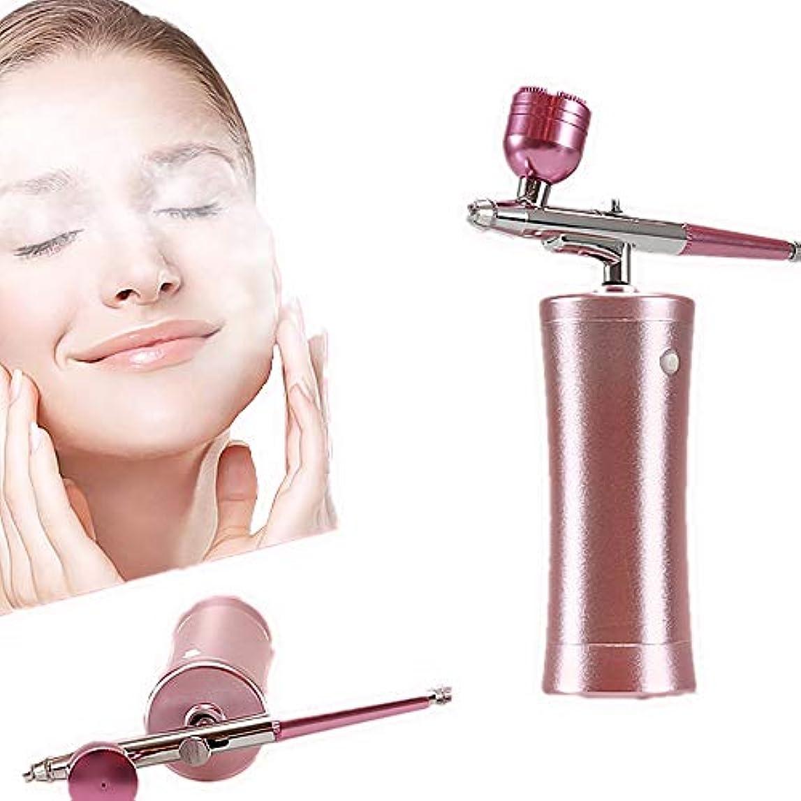 折る喉が渇いた顎酸素フェイシャルマシン、マイクロナノ保湿酸素噴霧器エアブラシマシン、肌反しわ若返りのための水噴射顔SPAスプレーガン