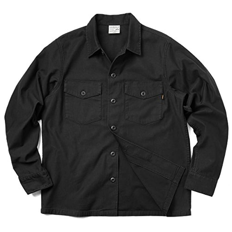 賢明な貫入曖昧な(アルファインダストリーズ) ALPHA TS5038 L/S ユーティリティシャツ SOLID(M (101)BLACK)