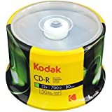 Kodak CD-R Kodak CD-R 700MB 52x Spindle 50 Pack, (510050)