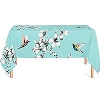 テーブルクロス花柄防水ホットコーヒーテーブル長方形テーブルクロス布 (Color : B, Size : 90x145cm(35x57inch))