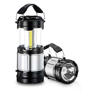 LEDランタン 明るい 最新COB 携帯型 Patech 電池6本付き 懐中電灯 折り畳み式 防水・防災・登山・夜釣り・ハイキング・アウトドア・キャンプ用・テント用 2個セット