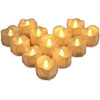 ORIA LED キャンドルライト LEDキャンドル ろうそく 揺らぐ炎 溶けたタイプ リアル感 火を使わない 癒しの灯り おしゃれ 安全 省エネ 便利 電池式 誕生日 結婚式 クリスマス 部屋飾り 室内飾り 12個セット
