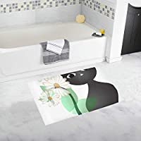 KDGCH バスマット かわいい動物 猫 足ふきマット 風呂 浴室 台所 キッチン 廊下 玄関 マット 吸水 速乾 ソフト 滑り止め 柔らかい