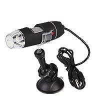 Tiptiper USB顕微鏡、1000x倍率内視鏡8 LED USBデジタル顕微鏡、WindowsXP、Win7、Win8、MacOS、Vistaに対応